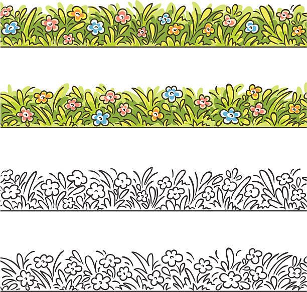 Grass frame vector art illustration