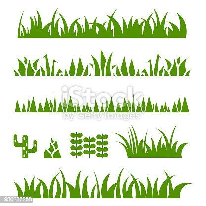 Grass icon set , vector illustration