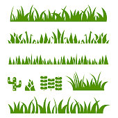 Grass icon set , vector illustration
