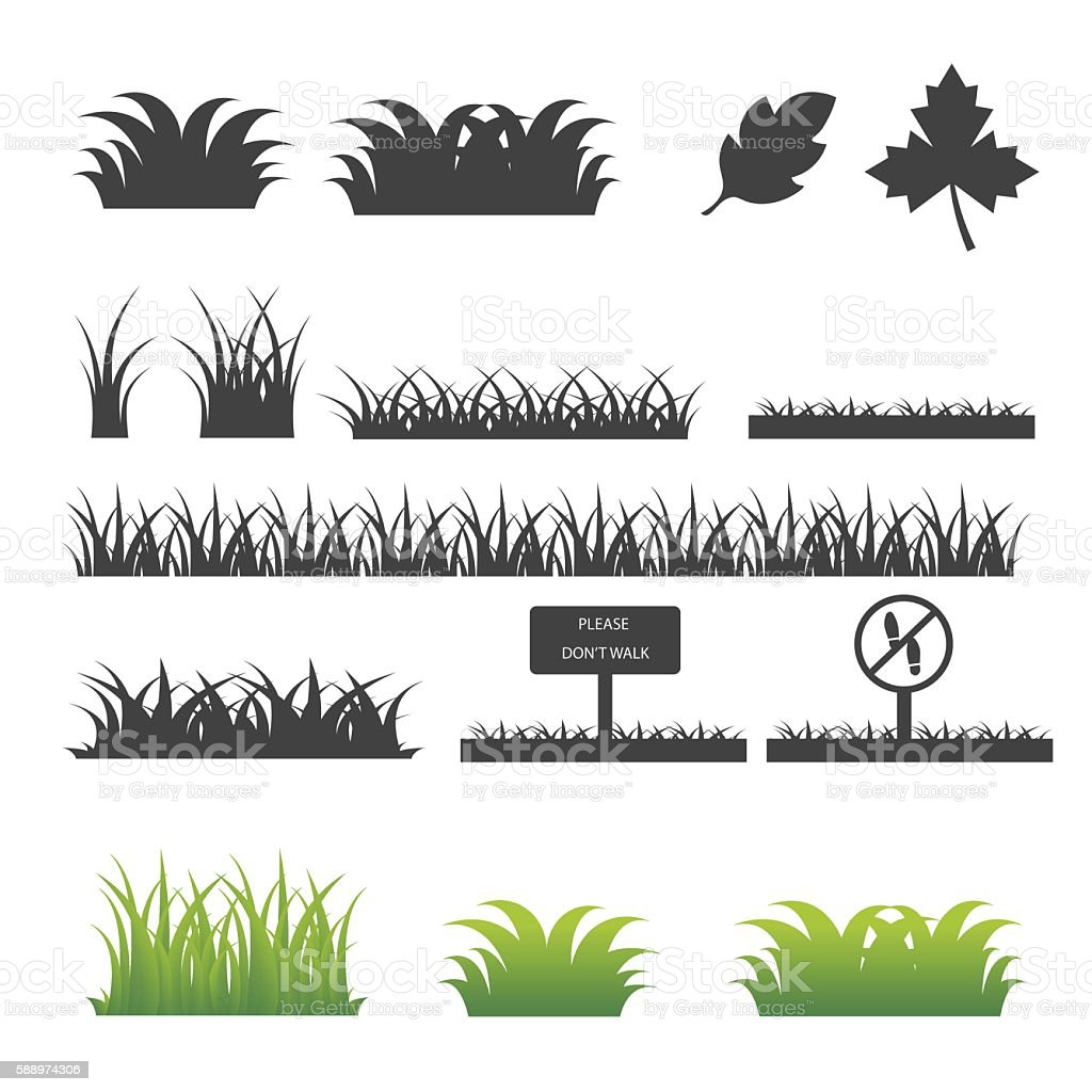 Grass icon . vector art illustration