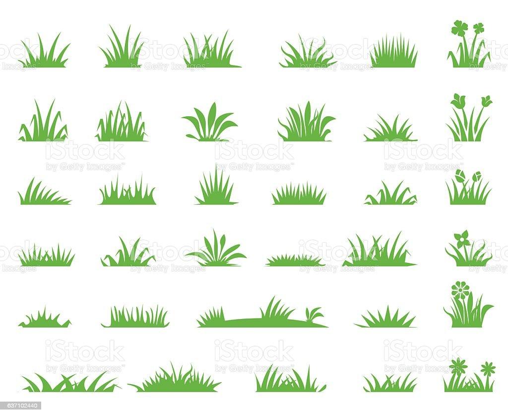 Grass icons – Vektorgrafik