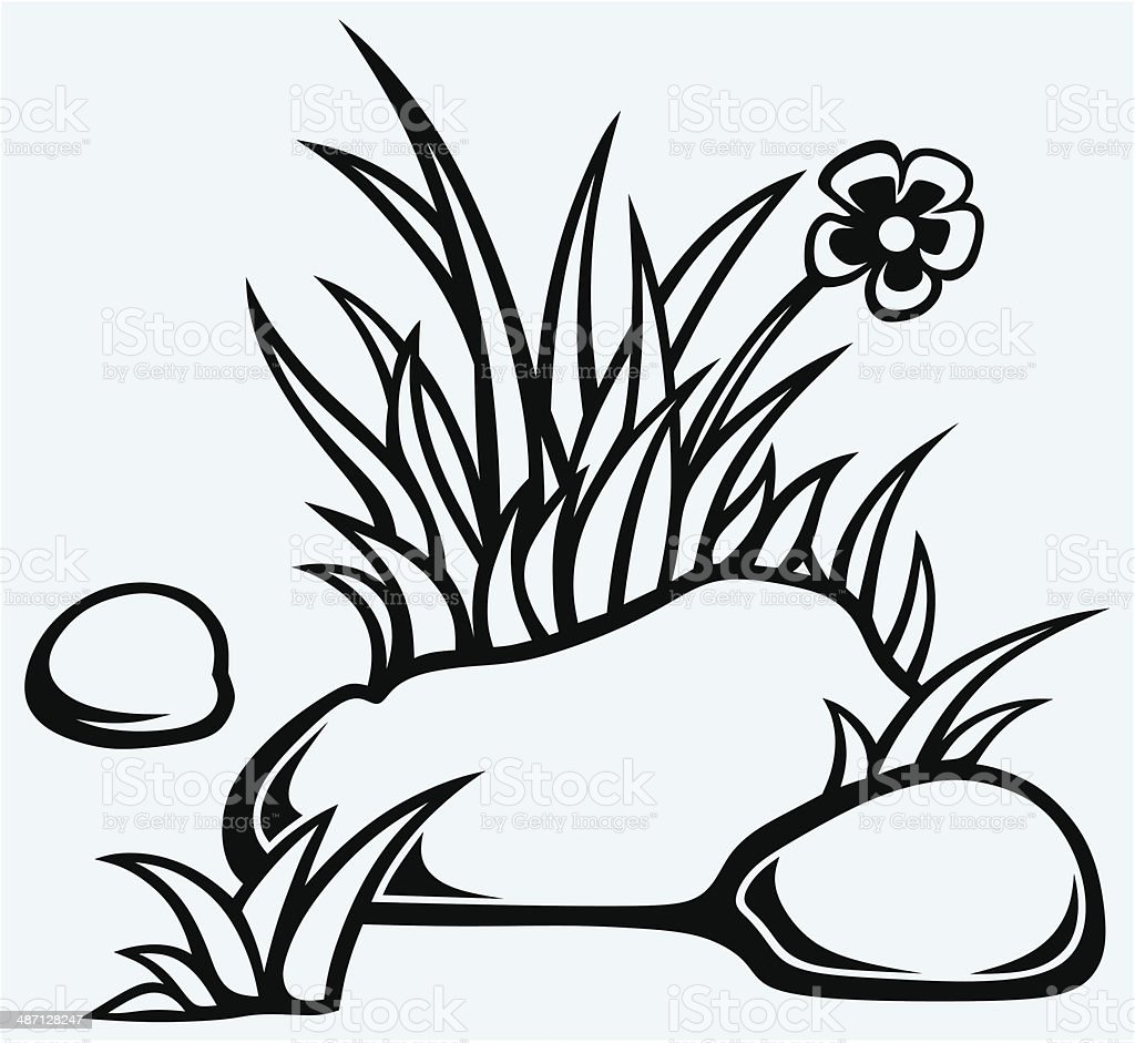 grass in stones stock vector art 487128247 istock