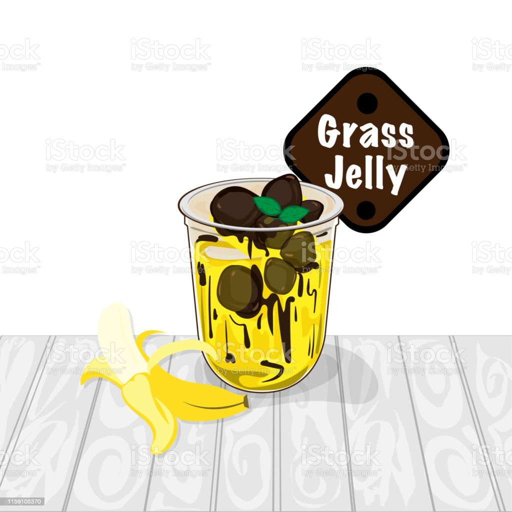 grass jelly graphic cup object food drink