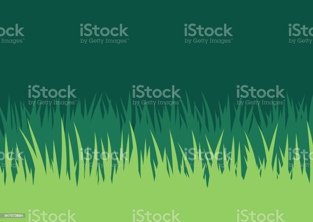 Grass Lawn Background vector art illustration