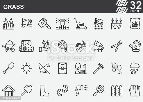 Grass Line Icons