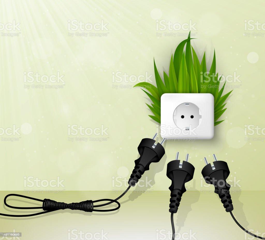 grass plug vector art illustration