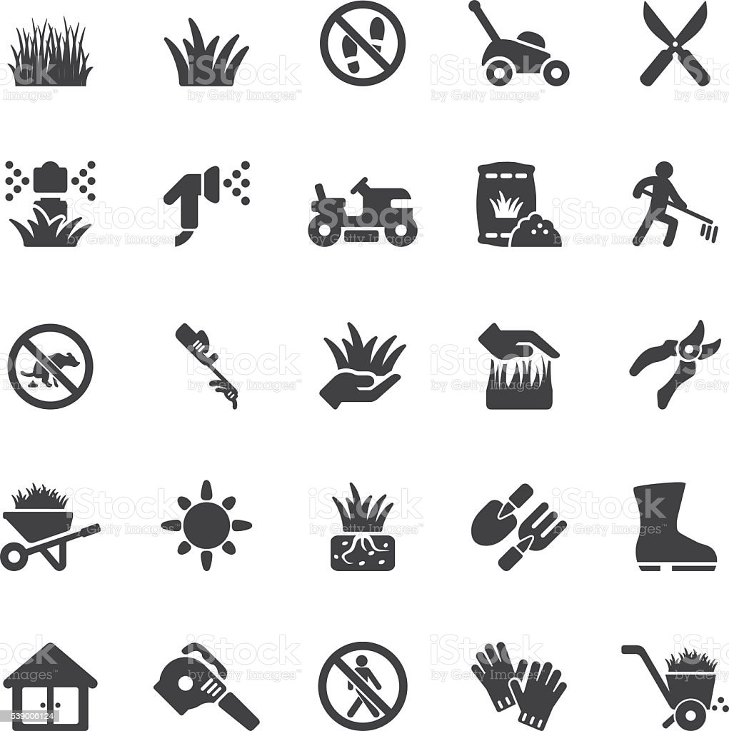 Grass Silhouette icons | EPS10 vector art illustration