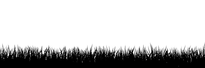 Grass silhouette seamless background. This illustration is designed to make a smooth seamless pattern if you duplicate it horizontally to cover more space.