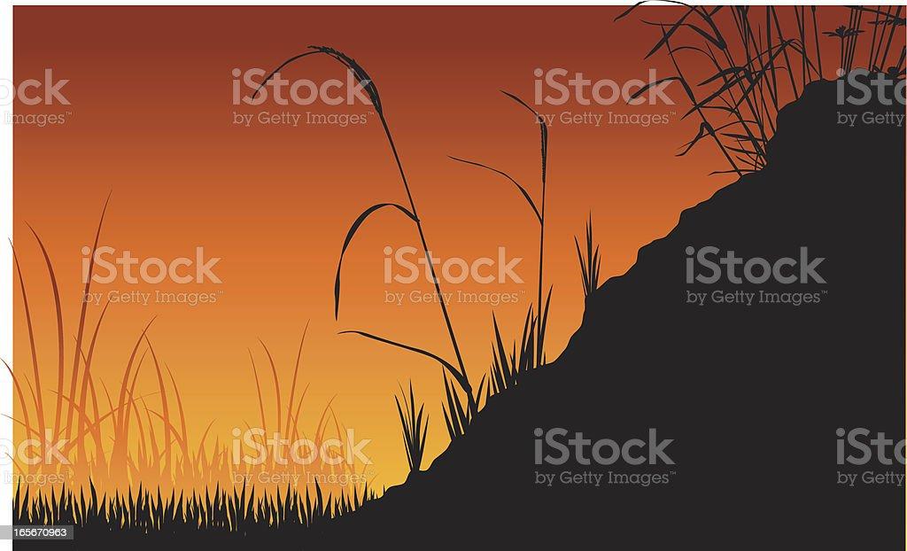 Grass Vector Silhouette royalty-free stock vector art