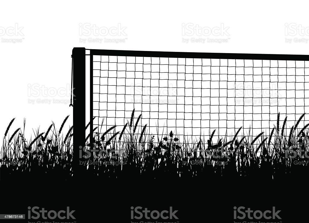 Grasscourt tennis season vector art illustration