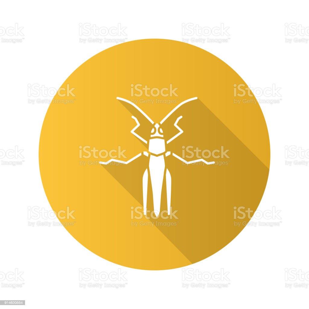 Grasshopper icon vector art illustration