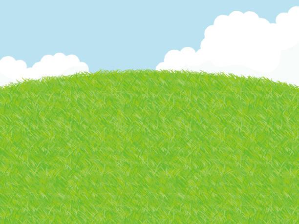 草原風景図 - 草原点のイラスト素材/クリップアート素材/マンガ素材/アイコン素材