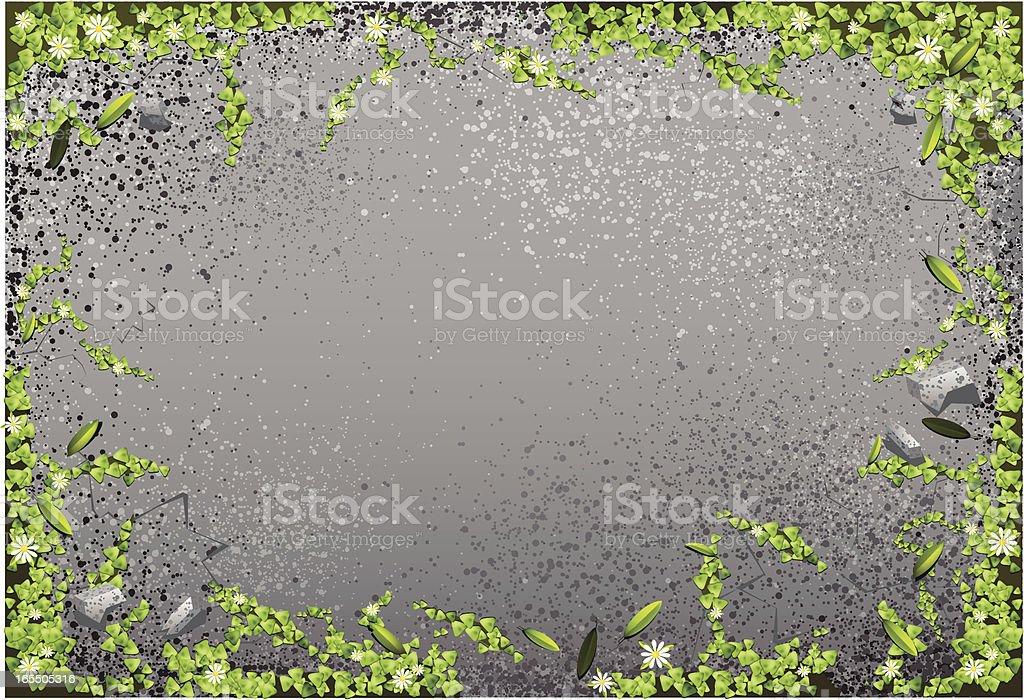 Grassy Concrete vector art illustration