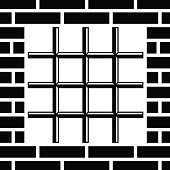 grate prison window black symbol