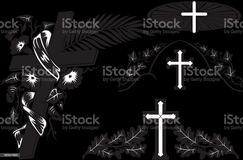 grave decoration royalty-free stock vector art