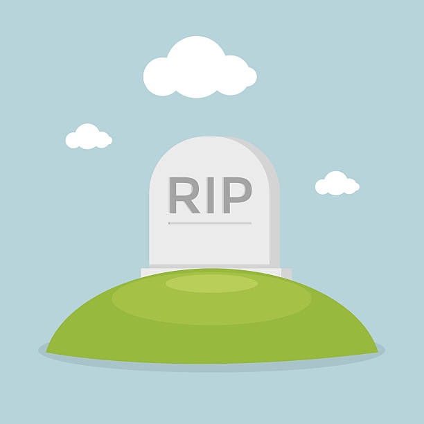 grave flat design vector - tombstone stock illustrations