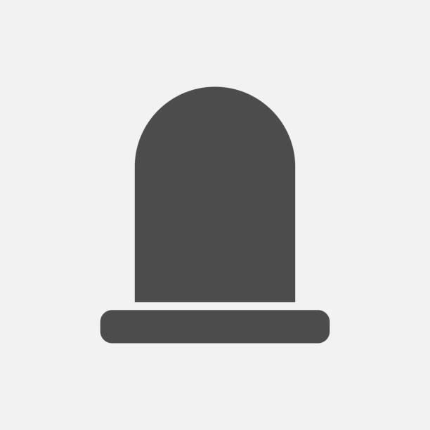 stockillustraties, clipart, cartoons en iconen met graf pictogram geïsoleerd op witte achtergrond. vectorillustratie. - funeral crying