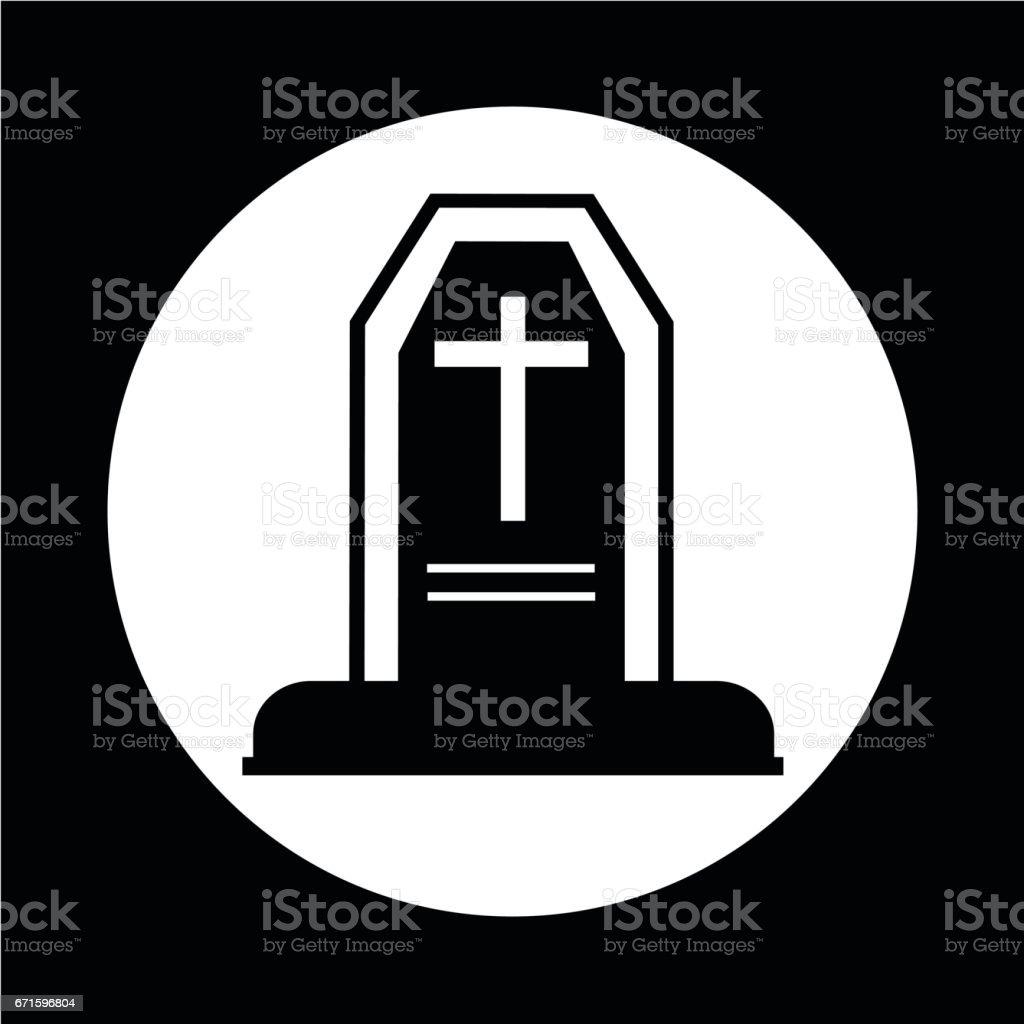 Grave Icon vector art illustration