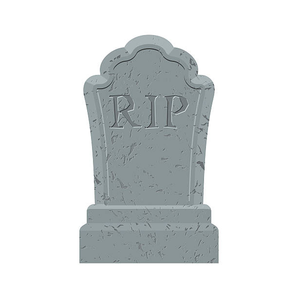 grave. old gravestone with cracks. tomb on white background. anc - tombstone stock illustrations, clip art, cartoons, & icons