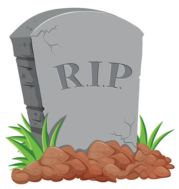 Royalty free rest in peace clip art vector images illustrations grave stone on the ground vector art illustration voltagebd Choice Image