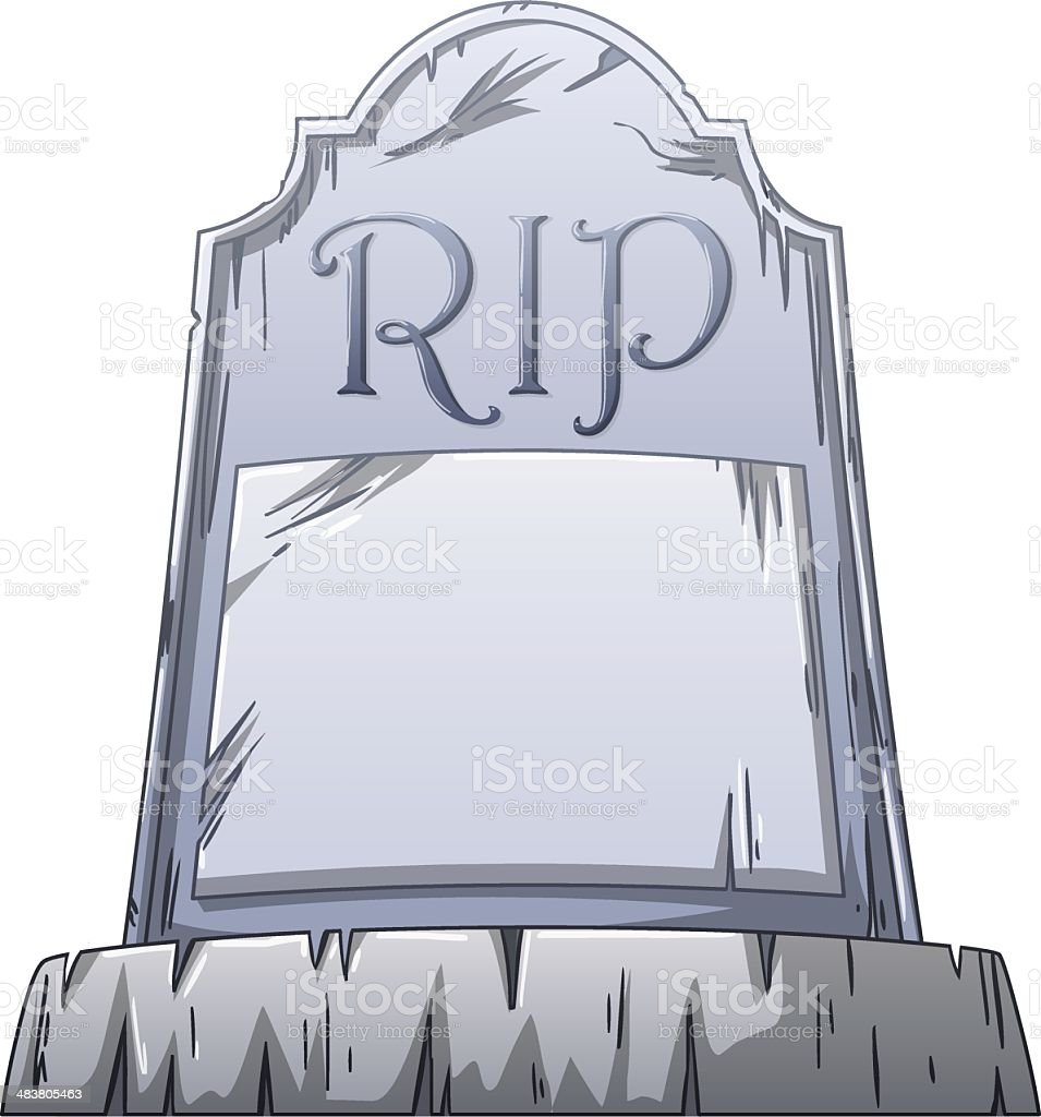 RIP Grave vector art illustration