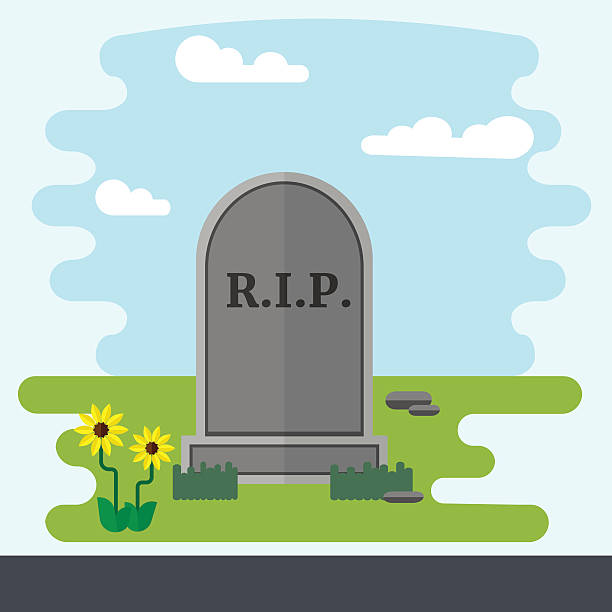Royalty free rest in peace clip art vector images illustrations gravestone flat design vector illustration vector art illustration voltagebd Choice Image