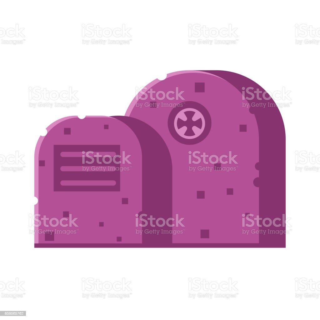 Gravestone Vector Icon vector art illustration