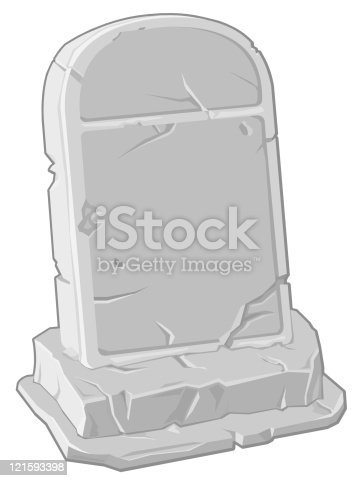 A vector illustration of a crumbling gravestone.