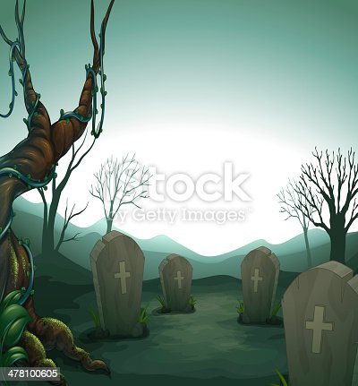 graveyard in the forest