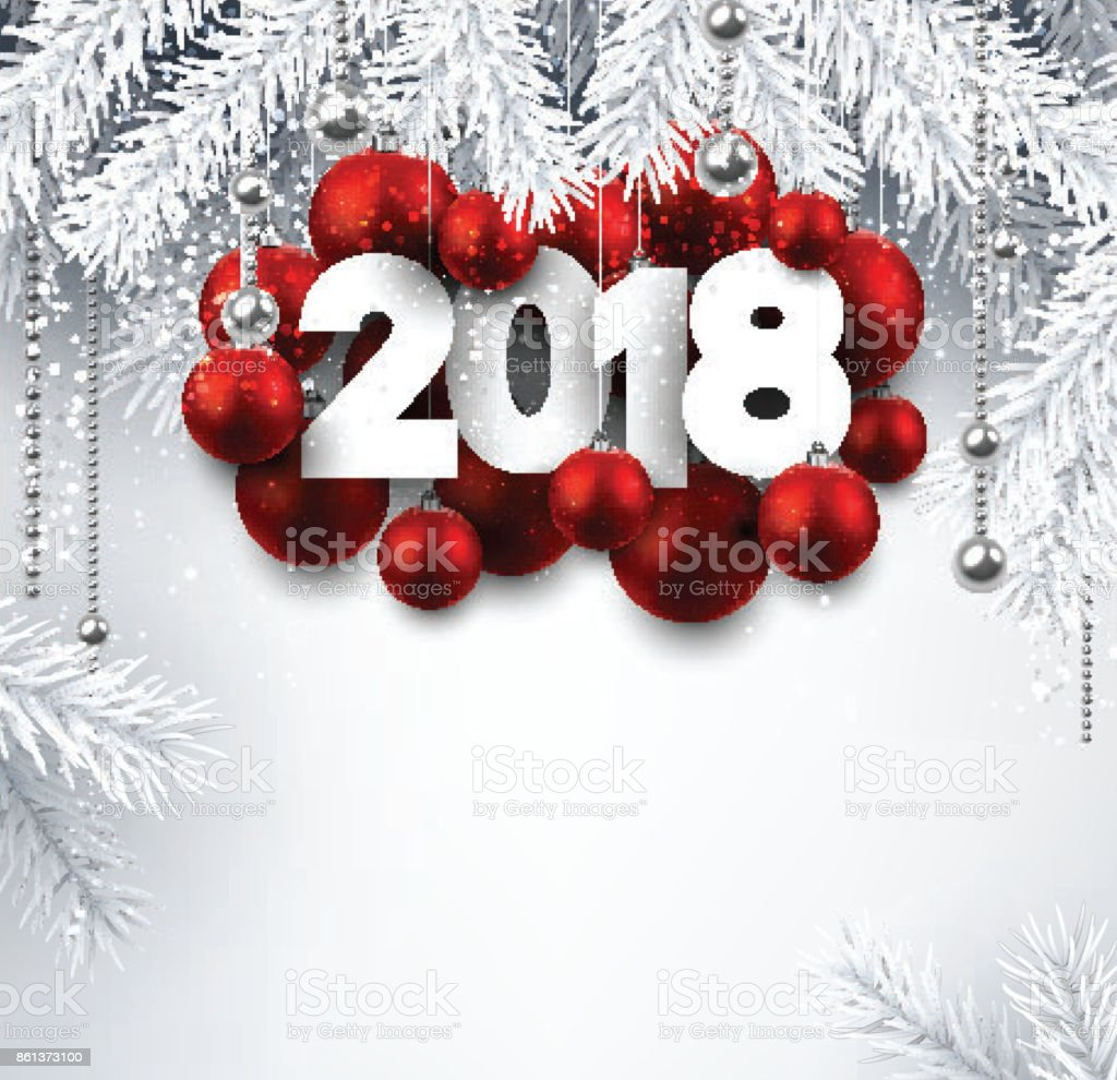 gray 2018 new year background royalty free stock vector art