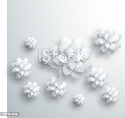 istock gray 3D floral pattern background 452571057