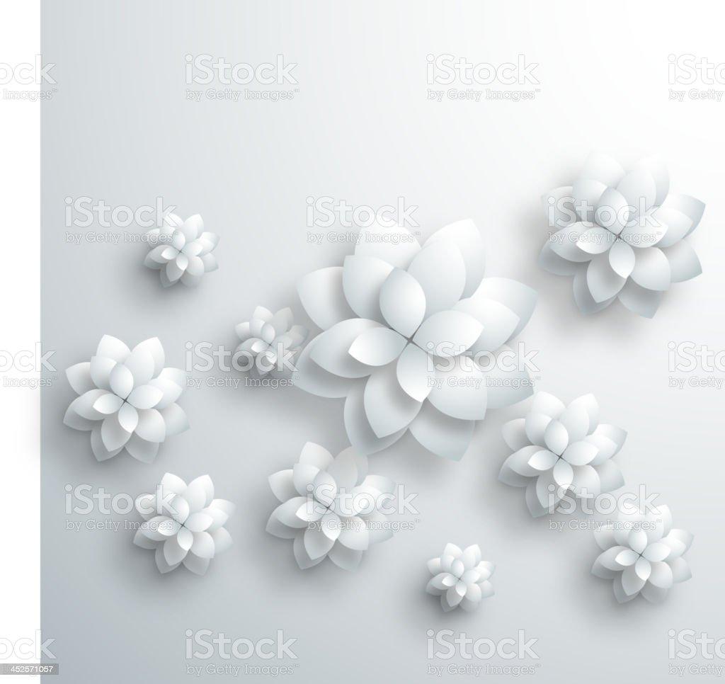 gray 3D floral pattern background vector art illustration