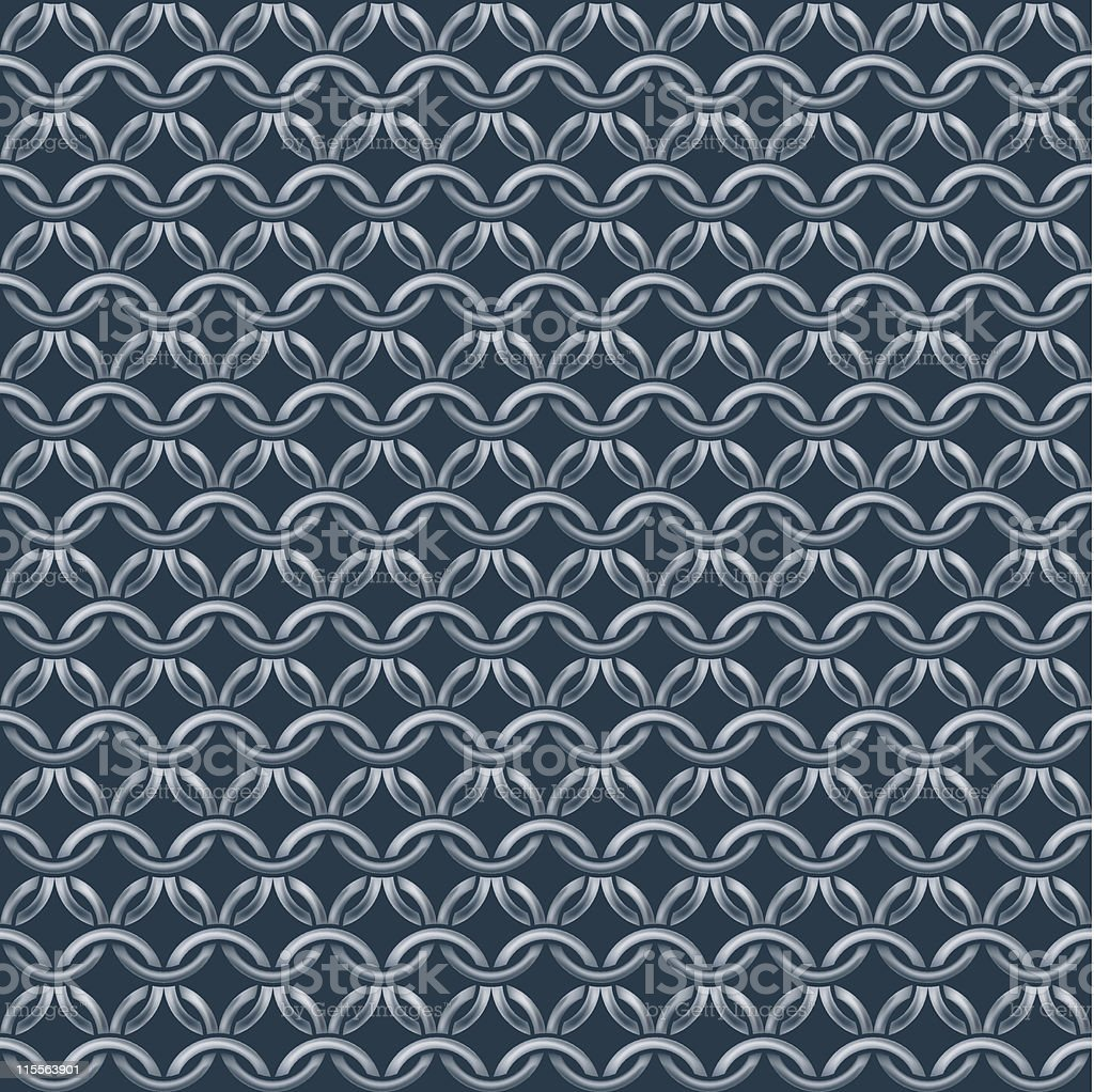 Gray and black seamless chain mail wallpaper royalty-free stock vector art