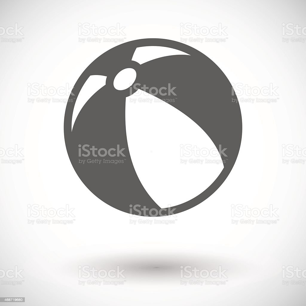A gray and white beach ball against a white background vector art illustration