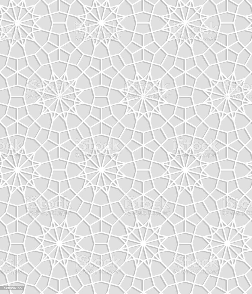 Ilustración de Grises Y Blancos Geométricos Cordón Del Ganchillo ...