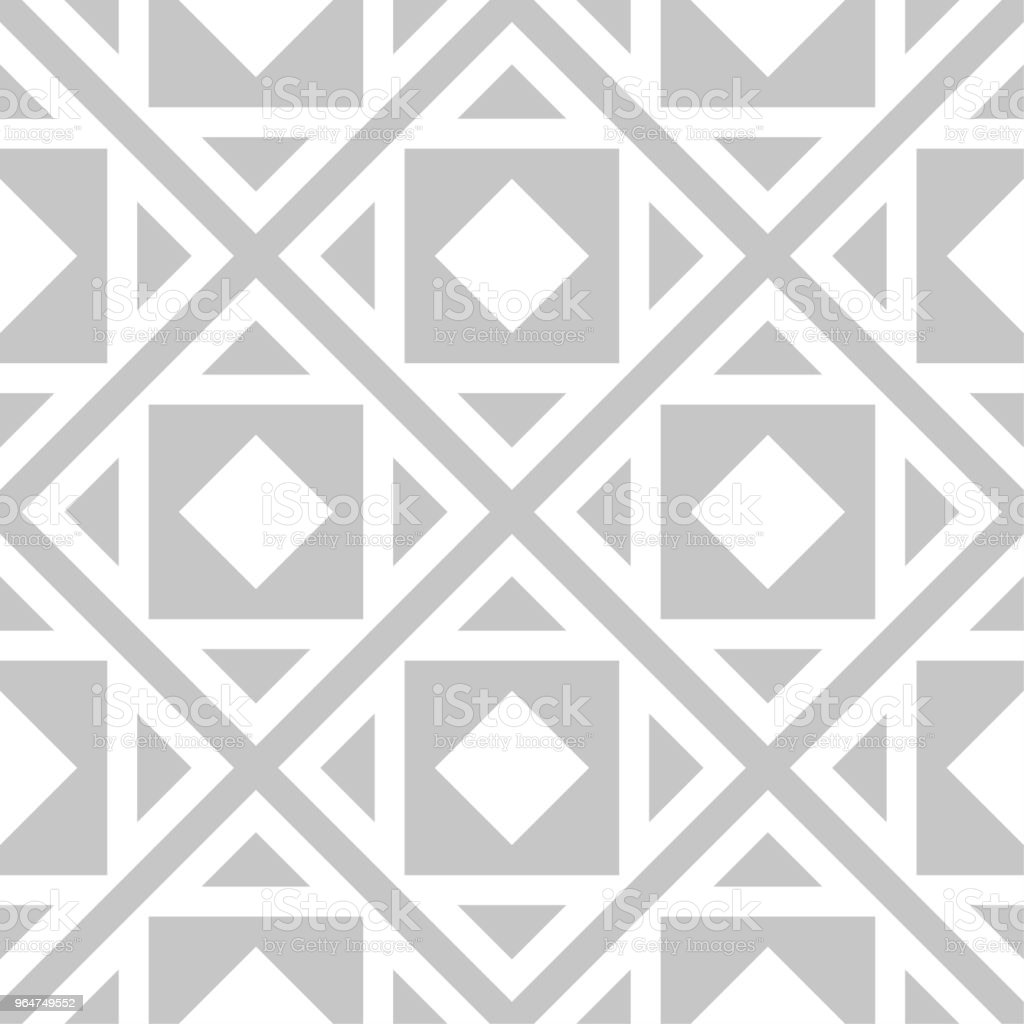 Gray and white geometric ornament. Seamless pattern royalty-free gray and white geometric ornament seamless pattern stock vector art & more images of abstract