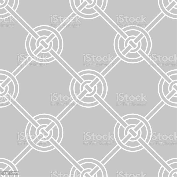 Grå Och Vit Geometriska Prydnad Seamless Mönster-vektorgrafik och fler bilder på Abstrakt