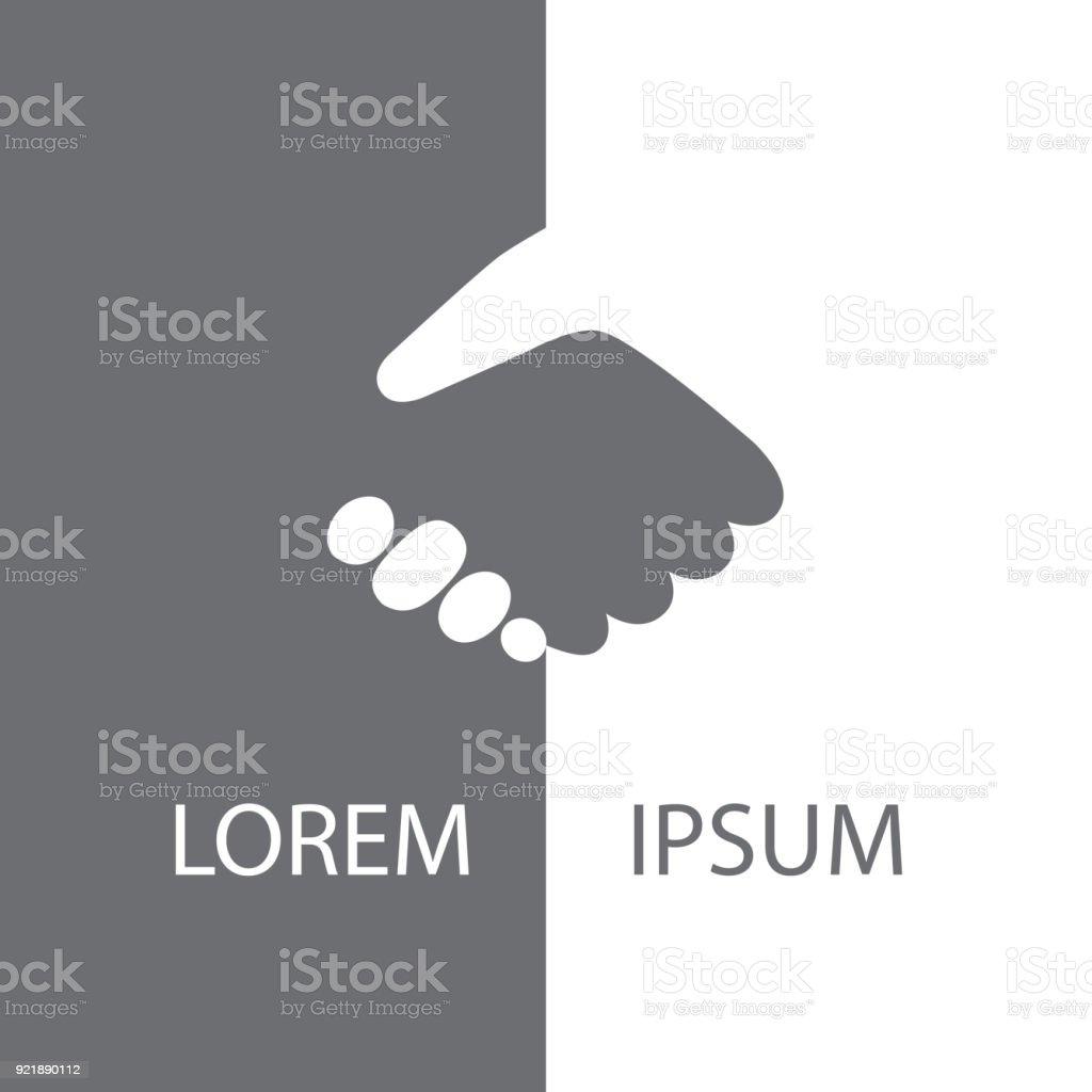 Graue und weiße Handshake Hintergrund – Vektorgrafik
