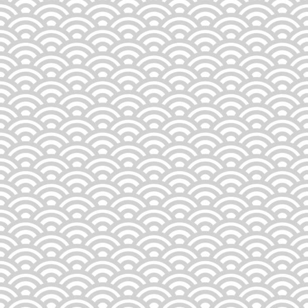 bildbanksillustrationer, clip art samt tecknat material och ikoner med gray and white japanese seamless pattern - japanskt ursprung