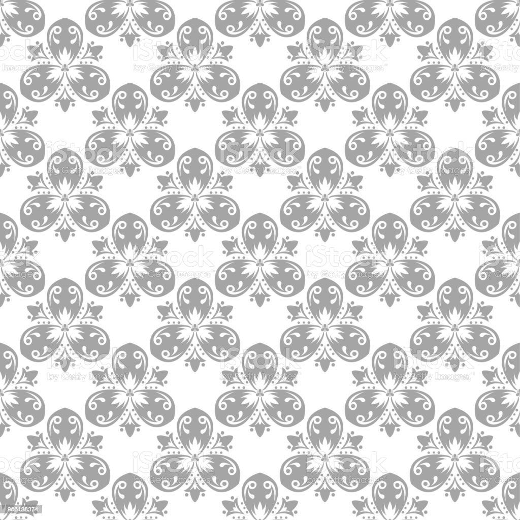 Patrón transparente gris y blanco - arte vectorial de Abstracto libre de derechos