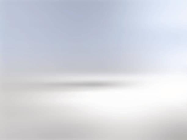szary horyzont tła z gradientem na niebieski - horyzont stock illustrations