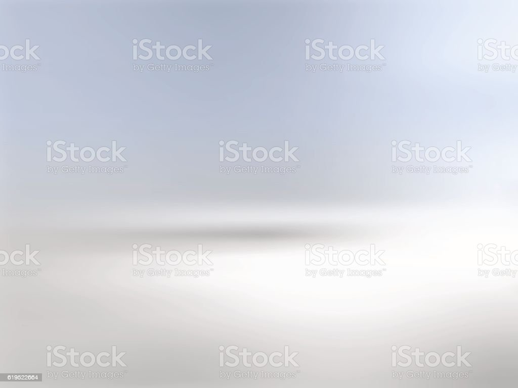 Gray background horizon with gradient to blue vector art illustration