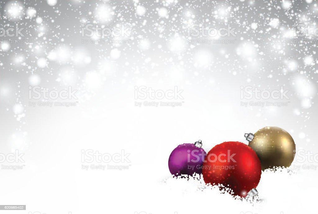 Gray background with Christmas balls. ilustração de gray background with christmas balls e mais banco de imagens de ano novo royalty-free