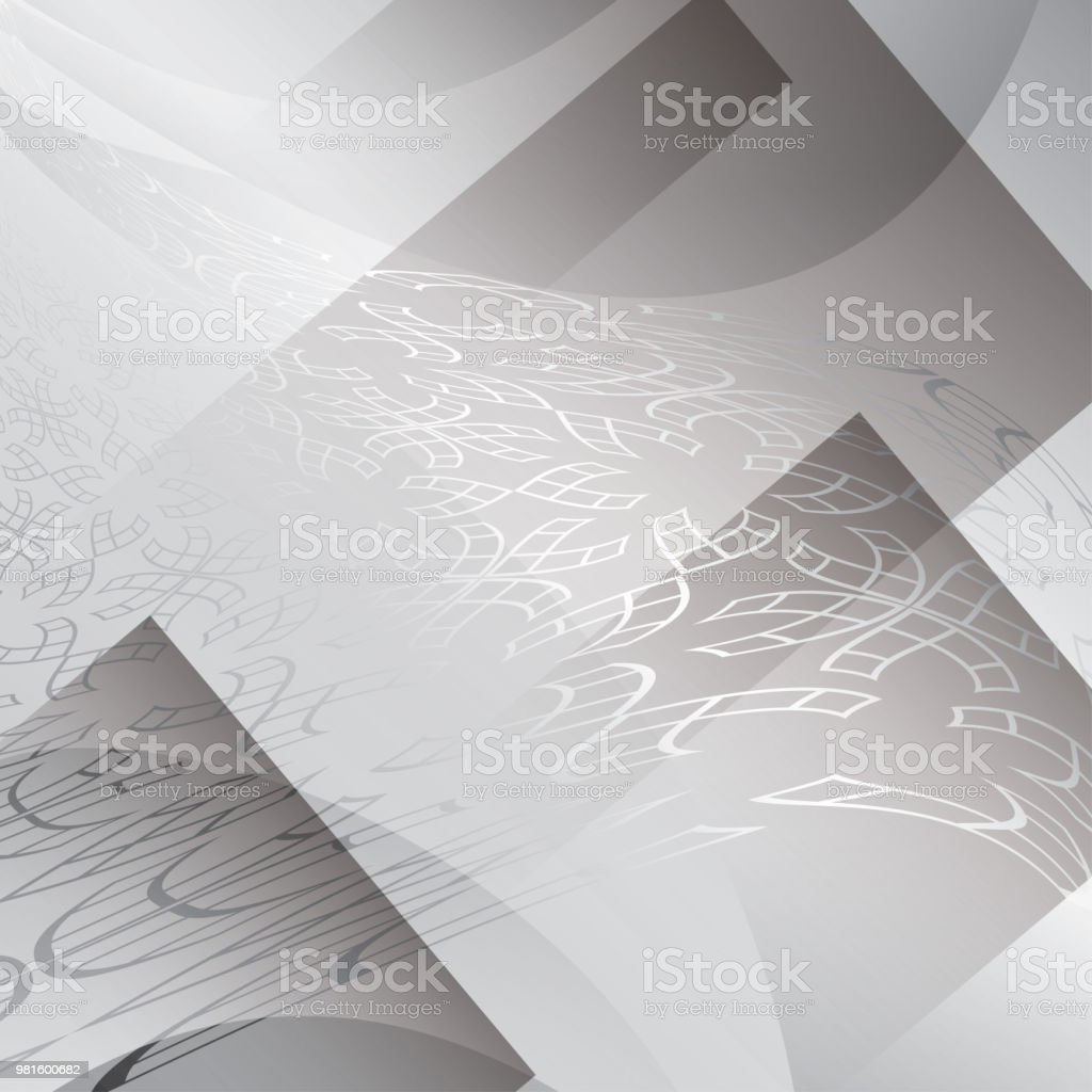 gray background with geometric abstractions - vector vector art illustration