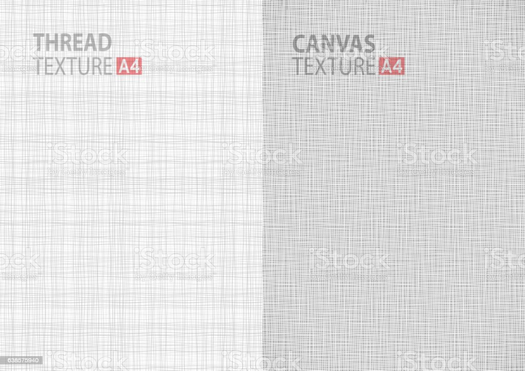 gray backgrounds fabric thread canvas textures in A4 size ベクターアートイラスト