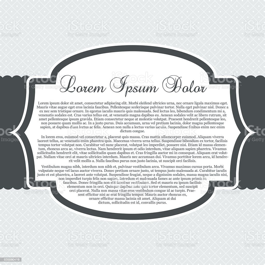 Gray Boutique Template vector art illustration
