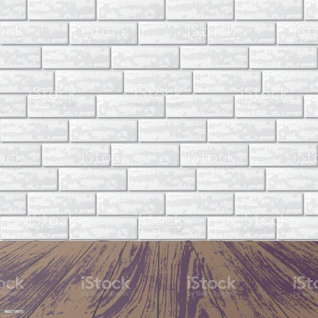 灰色的磚牆與強化地板 免版稅 灰色的磚牆與強化地板 向量插圖及更多 仿實木地板 圖片