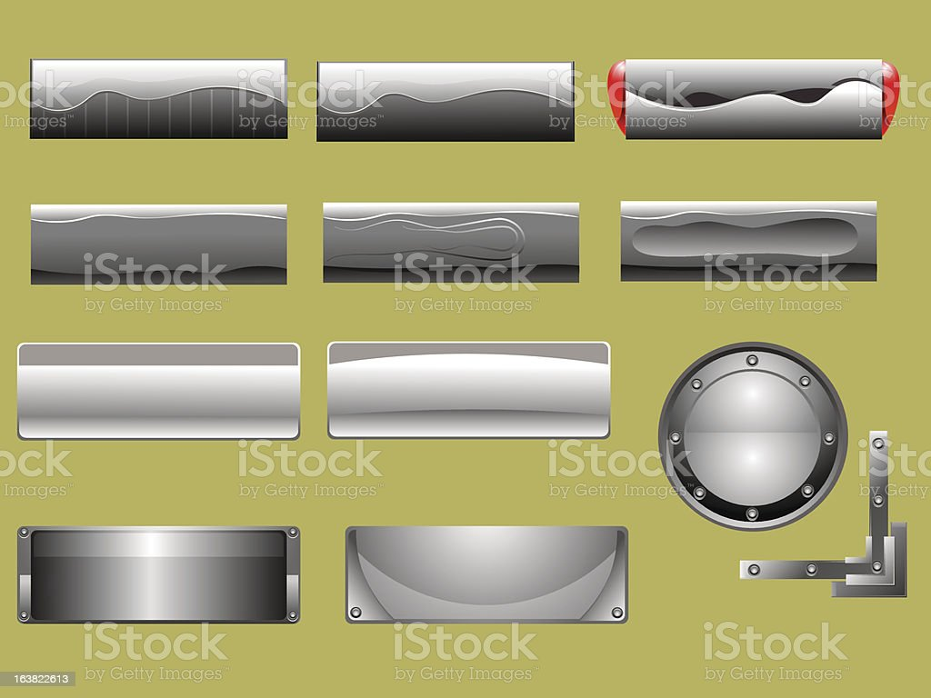 Gray Buttons royalty-free gray buttons stock vector art & more images of angle