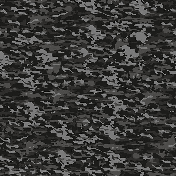 Gray camouflage Urban seamless camouflage pattern in dark gray colors military uniform stock illustrations