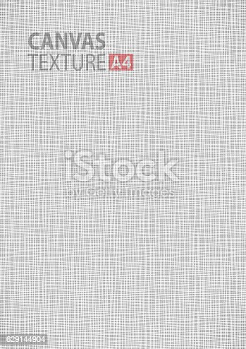 Gray Canvas Thread Fabric Pattern Texture A4 Vector Size